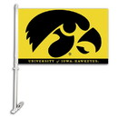 NEOPlex K97024 Iowa Hawkeyes Double Sided Car Flag