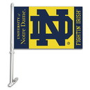 NEOPlex K97036 Notre Dame Fighting Irish Double Sided Car Flag