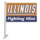 NEOPlex K97041 Illinois Fighting Illini Double Sided Car Flag