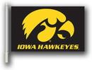 NEOPlex K97124 Iowa Hawkeyes Black Double Sided Car Flag