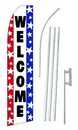 NEOPlex SW10126-SGS-4PL Welcome Red White Blue Swooper Flag Kit