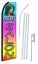 NEOPlex SW10136-SGS-4PL Hair Salon Multi Color Swooper Flag Kit