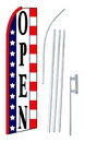 NEOPlex SW10161-SGS-4PL Open Red White Blue Swooper Flag Kit
