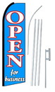 NEOPlex SW10163-SGS-4PL Open For Business Swooper Flag Kit