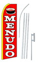 NEOPlex SW10189-4PL-SGS Menudo(Soup) Red Swooper Flag Kit