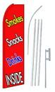 NEOPlex SW10190-4PL-SGS Smokes Snacks Drinks Inside Swooper Flag Kit