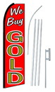 NEOPlex SW10195-4PL-SGS We Buy Gold Red Swooper Flag Kit