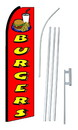 NEOPlex SW10278-4PL-SGS Burgers Red Swooper Flag Kit