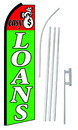 NEOPlex SW10451-4PL-SGS Easy Loans Swooper Flag Kit