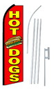 NEOPlex SW10454-SGS-4PL Hot Dogs Red Swooper Flag Kit