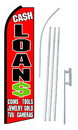 NEOPlex SW10458-4PL-SGS Cash Loans Swooper Flag Kit