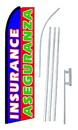 NEOPlex SW10462-4PL-SGS Bilingual Aseguranza Insurance Swooper Flag Kit