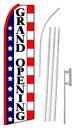 NEOPlex SW10564-4PL-SGS Grand Opening Stars & Stripes Swooper Flag Kit