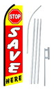 NEOPlex SW10574-4PL-SGS Stop Save Here Swooper Flag Kit
