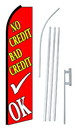 NEOPlex SW10579-4PL-SGS No Credit Bad Credit Ok Red Swooper Flag Kit