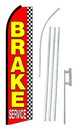 NEOPlex SW10585-4PL-SGS Brake Service Checkered Swooper Flag Kit
