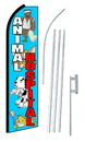 NEOPlex SW10598-SGS-4PL Animal Hospital Swooper Flag Kit