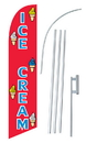 NEOPlex SW10613-SGS-4DL Ice Cream Red Windless Swooper Flag Kit