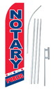 NEOPlex SW10618-SGS-4PL Notary Public Red & Blue Swooper Flag Kit