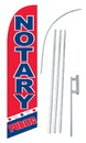 NEOPlex SW10619-SGS-4DL Notary Public & Blue Red Windless Swooper Flag Kit