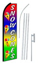 NEOPlex SW10635-4PL-SGS Snow Cones Rainbow Swooper Flag Kit