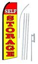 NEOPlex SW10662-4PL-SGS Self Storage Red & Yellow Swooper Flag Kit