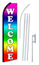 NEOPlex SW10671-4PL-SGS Welcome Multi Color Swooper Flag Kit