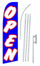 NEOPlex SW10713-SGS-4PL Open Blue Swooper Flag Kit