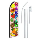 NEOPlex SW10714-4PL-SGS Raspados(Shaved Ice) Extra Wide Swooper Flag Bundle