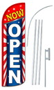 NEOPlex SW10799-4SPD-SGS Now Open Stars & Stripes Deluxe Windless Swooper Flag Kit