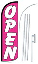 NEOPlex SW10800-4SPD-SGS Open Pink Deluxe Windless Swooper Flag Kit