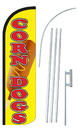 NEOPlex SW10846-4SPD-SGS Corn Dogs Yellow Deluxe Windless Swooper Flag Kit