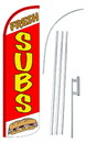 NEOPlex SW10847-4SPD-SGS Fresh Subs Red Deluxe Windless Swooper Flag Kit