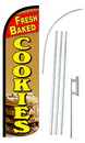 NEOPlex SW10848-4SPD-SGS Fresh Baked Cookies Deluxe Windless Swooper Flag Kit