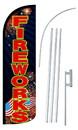 NEOPlex SW10851-4SPD-SGS Fireworks Deluxe Windless Swooper Flag Kit