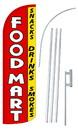 NEOPlex SW10856-4SPD-SGS Food Mart Deluxe Windless Swooper Flag Kit