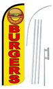 NEOPlex SW10858-4SPD-SGS Burgers Yellow Deluxe Windless Swooper Flag Kit
