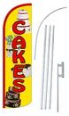 NEOPlex SW10864-4SPD-SGS Cakes Deluxe Windless Swooper Flag Kit