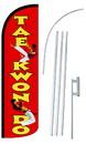 NEOPlex SW10892-4SPD-SGS Tae Kwan Do Deluxe Windless Swooper Flag Kit