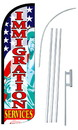 NEOPlex SW10893-4SPD-SGS Immigration Services Deluxe Windless Swooper Flag Kit