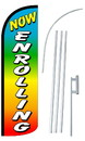 NEOPlex SW10923-4SPD-SGS Now Enrolling Rainbow Deluxe Windless Swooper Flag Bundle