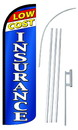 NEOPlex SW10927-4SPD-SGS Low Cost Insurance Deluxe Windless Swooper Flag Kit