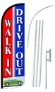 NEOPlex SW10929-4SPD-SGS Walk-In Drive-Out Deluxe Windless Swooper Flag Kit