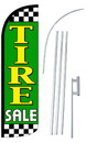 NEOPlex SW10962-4SPD-SGS Tire Sale Green Deluxe Windless Swooper Flag Kit