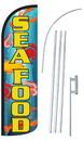 NEOPlex SW10966-4SPD-SGS Seafood Deluxe Windless Swooper Flag Kit