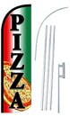 NEOPlex SW10985-4SPD-SGS Pizza Deluxe Windless Swooper Flag Bundle