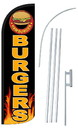 NEOPlex SW10993-4SPD-SGS Burgers Deluxe Windless Swooper Flag Bundle