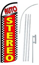NEOPlex SW11004-4SPD-SGS Auto Stereo Deluxe Windless Swooper Flag Kit