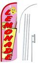NEOPlex SW11006-4SPD-SGS Lemonade Pink Deluxe Windless Swooper Flag Kit
