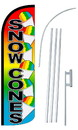 NEOPlex SW11011-4SPD-SGS Snow Cones Rainbow Deluxe Windless Swooper Flag Kit
